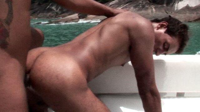 Sensational Alan ass smashed on the boat